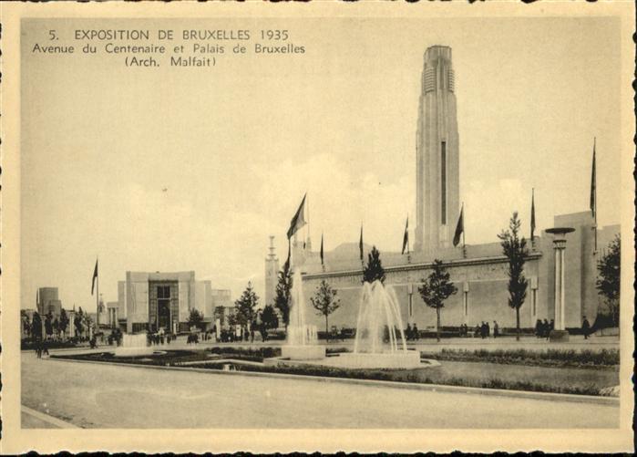 AK / Ansichtskarte Events Exposition de Bruxelles Avenue du Centenaire Palais de Bruxelles / Events /
