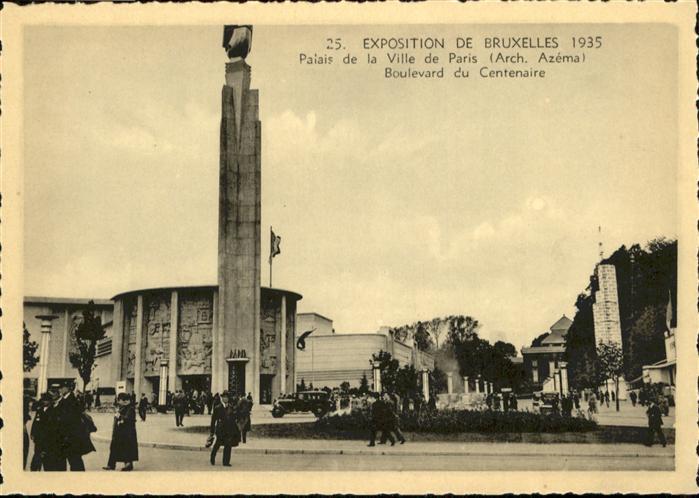 AK / Ansichtskarte Events Exposition de Bruxelles Palais de la Ville de Paris Boulevard du Centenaire / Events /
