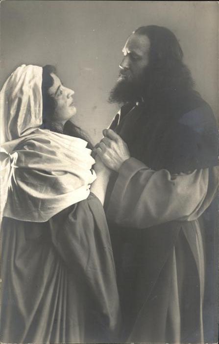 AK / Ansichtskarte Passionsspiele Oberammergau Abschied Jesus von Maria No 3 Kat. Events