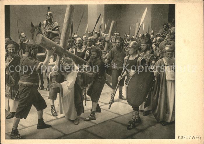 AK / Ansichtskarte Passionsspiele Oberammergau 1930 Nr. 52 Kreuzweg  Kat. Events