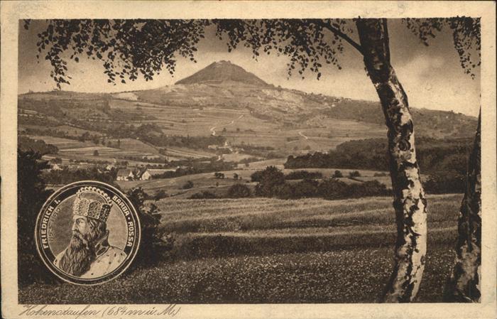 AK / Ansichtskarte Hohenstaufen Panorama mit Burg Hohenstaufen Friedrich Barbarossa Kat. Goeppingen