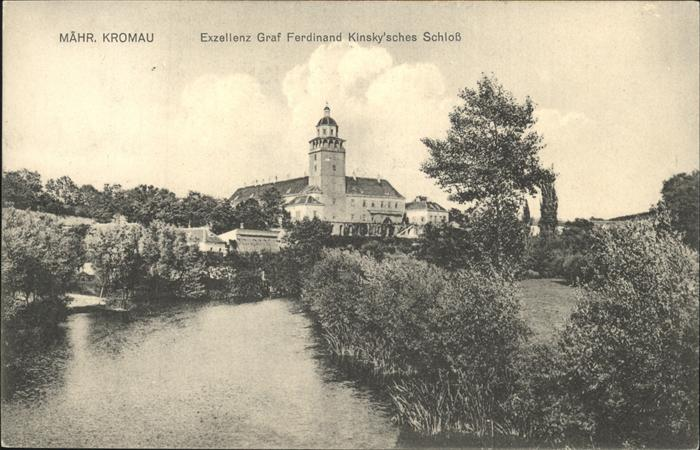 Maehrisch Kromau Maehren Exzellenz Graf Ferdinand Kinskysches Schloss Kat. Moravsky Krumlov