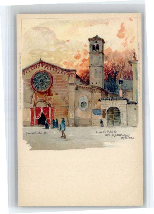 Wielandt Manuel Litho Lugano Kuenstler Manuel Wielandt St Maria * / Kuenstlerkarte /