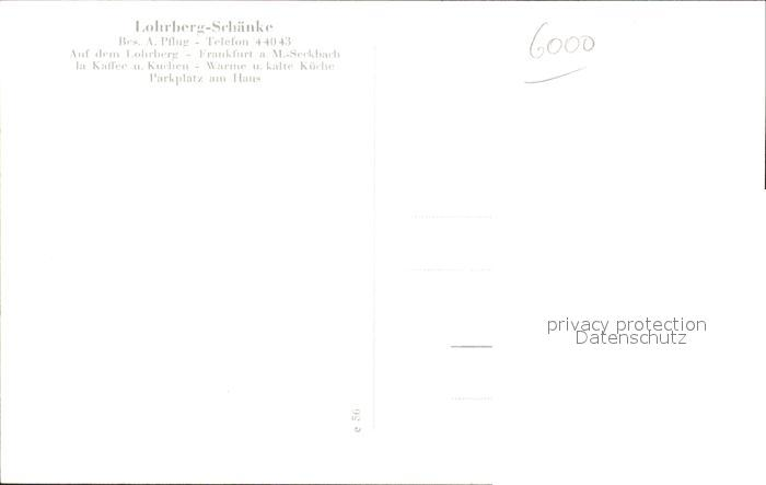 AK / Ansichtskarte Frankfurt Main Lohrberg-Schaenke / Frankfurt am ...