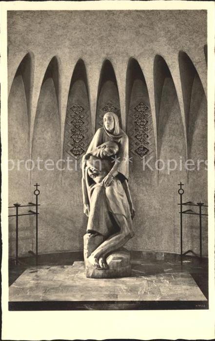 AK / Ansichtskarte Limburg Lahn Marienkirche der Pallottiner Pieta von Prof Karl Baur Kat. Limburg a.d. Lahn