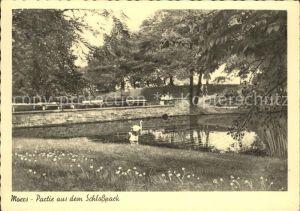 AK / Ansichtskarte Moers Partie im Schlosspark Kat. Moers