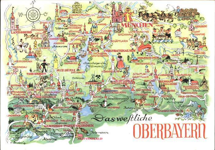 Karte Oberbayern.Ak Ansichtskarte Benediktbeuern Landkarte Oberbayern Kat Benediktbeuern
