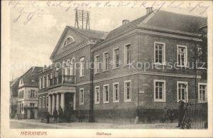 AK / Ansichtskarte Herxheim Pfalz Rathaus / Herxheim bei Landau/ Pfalz /Suedliche Weinstrasse LKR