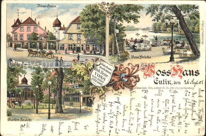 AK / Ansichtskarte Eutin Voss Haus Gartenansicht Voss Bruecke Kat. Eutin