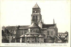 AK / Ansichtskarte Fontevraud l Abbaye Abbay fondee XI siecle Abside de l Eglise Kat. Fontevraud l Abbaye