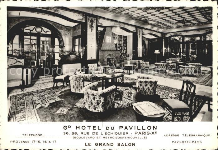 AK / Ansichtskarte Paris Hotel du Pavillon Grand Salon Kat. Paris