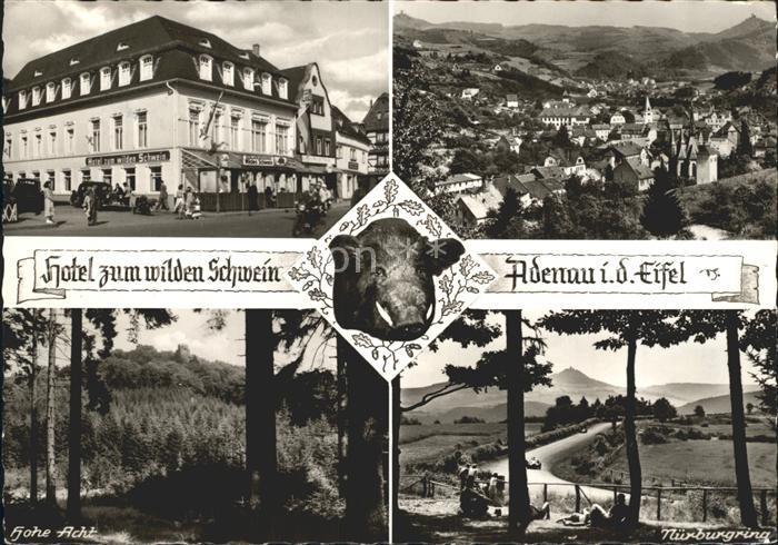 AK / Ansichtskarte Adenau Hotel zum wilden Schwein Nuerburgring Hohe Acht Kat. Adenau