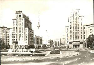 AK / Ansichtskarte Berlin Strausberger Platz mit Fernsehturm Kat. Berlin