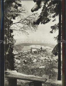 AK / Ansichtskarte Schwarzenberg Erzgebirge Panorama Blick vom Rockelmann Kat. Schwarzenberg
