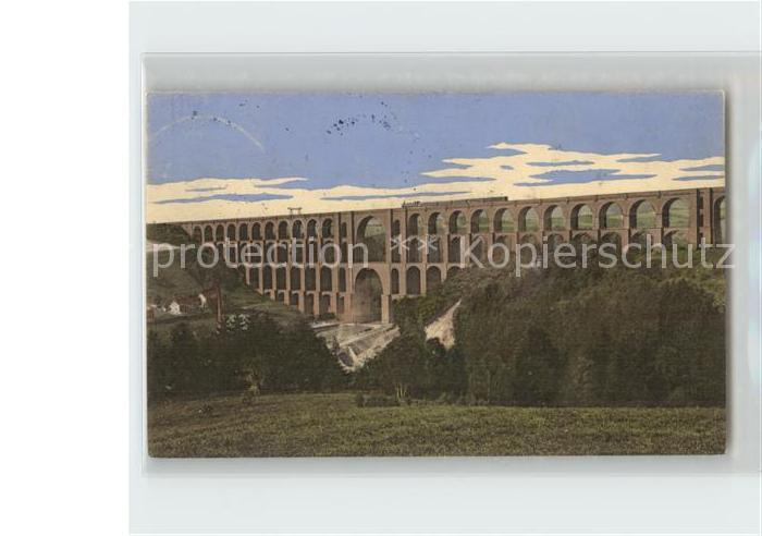 AK / Ansichtskarte Netzschkau Goeltzschtalbruecke erbaut 1851 Eisenbahn Vogtlaendische Schweiz Kat. Netzschkau