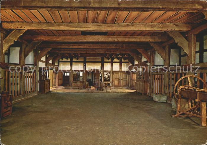 AK / Ansichtskarte Cloppenburg Diele Herdraum des Haakenhofes Freilichtmuseum Kat. Cloppenburg
