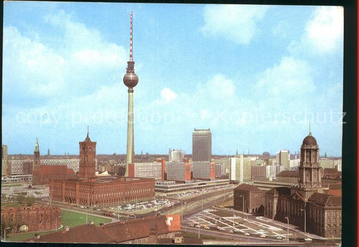 AK / Ansichtskarte Berlin Zentrum Fernsehturm Hauptstadt der DDR Kat. Berlin