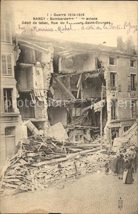 AK / Ansichtskarte Nancy Lothringen apres le bombardement Grande Guerre 1914 1915 Truemmer 1. Weltkrieg Kat. Nancy