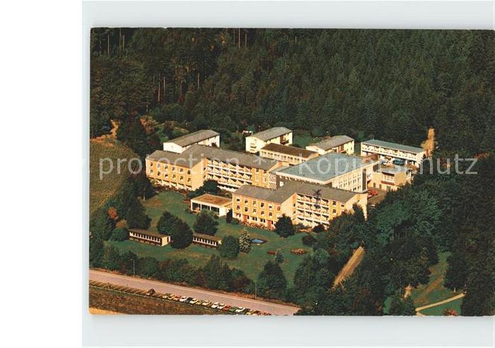 AK / Ansichtskarte Bad Steben Klinik Frankenwarte Fliegeraufnahme Kat. Bad Steben