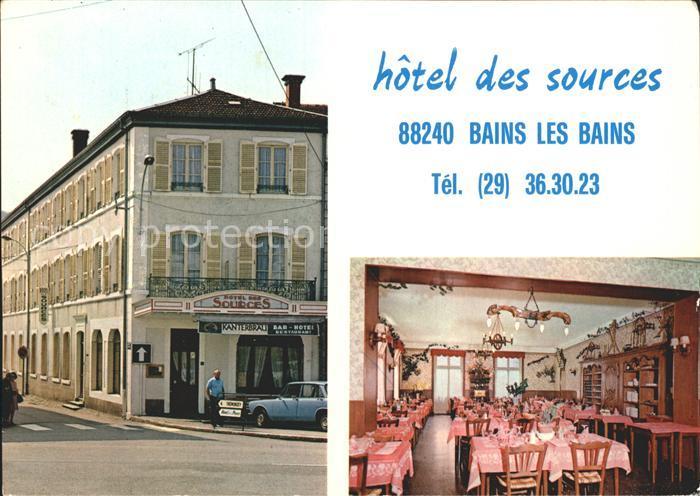 AK / Ansichtskarte Bains les Bains Hotel des Sources Restaurant Kat. Bains les Bains