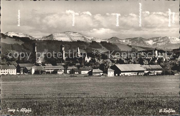 AK / Ansichtskarte Isny Allgaeu Ortsansicht Georg Sulzberger Heim Jugendherberge Schullandheim Allgaeuer Alpen Kat. Isny im Allgaeu