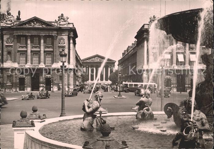 AK / Ansichtskarte Paris Rue Royale Fontaines de la Concorde Kat. Paris