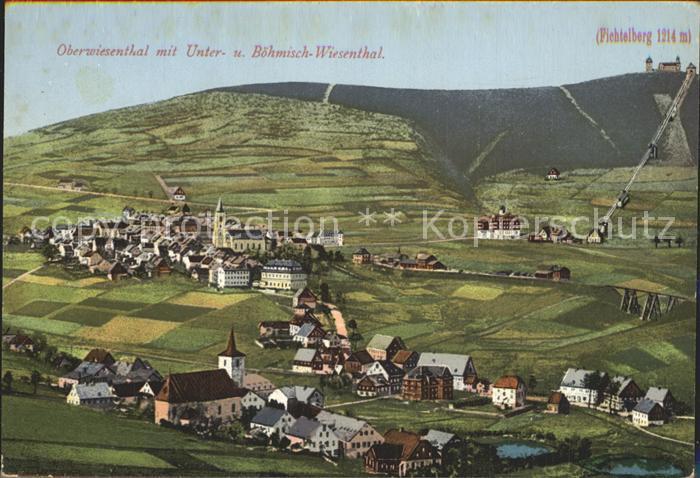 AK / Ansichtskarte Oberwiesenthal Erzgebirge Unterwiesenthal Boehmisch Wiesenthal Fichtelberg Kat. Oberwiesenthal