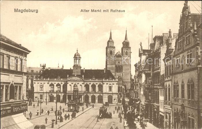 AK / Ansichtskarte Magdeburg Alter Markt mit Rathaus Kat. Magdeburg