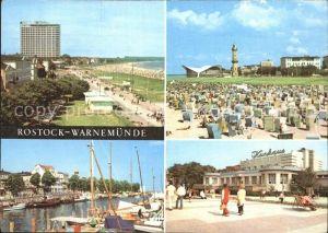 AK / Ansichtskarte Rostock Warnemuende Hotel Neptun Promenade Strand Gaststaette Teepott Leuchtturm Am Alten Strom Kurhaus Kat. Rostock