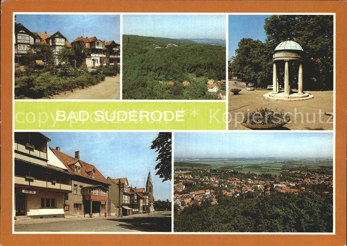 AK / Ansichtskarte Bad Suderode Rathausplatz Sanatorium Behringer Brunnen Markt Kat. Bad Suderode