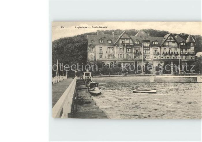 AK / Ansichtskarte Kiel Logierhaus Seebadeanstalt / Kiel /Kiel Stadtkreis
