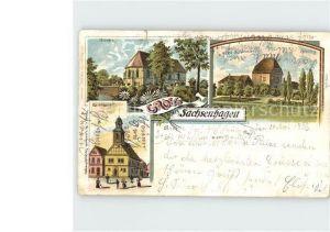 AK / Ansichtskarte Sachsenhagen Rathhaus Kirche Altes Schloss / Sachsenhagen /Schaumburg LKR