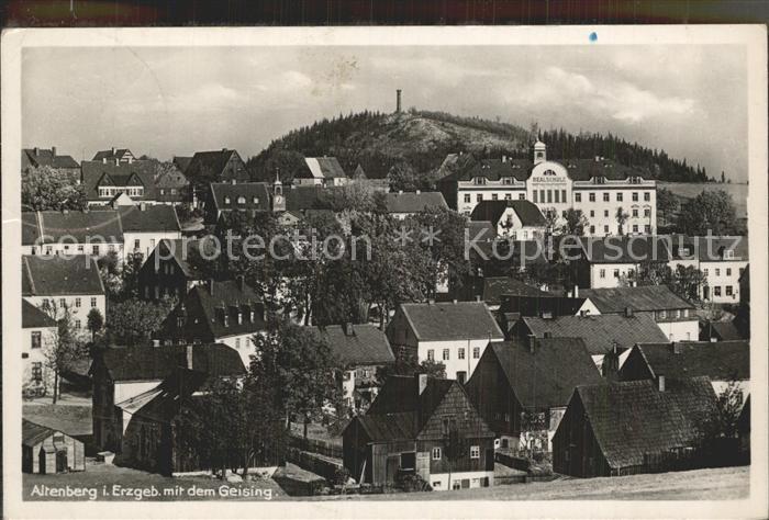 AK / Ansichtskarte Altenberg Erzgebirge Teilansicht mit Schule Geisingberg Kat. Geising