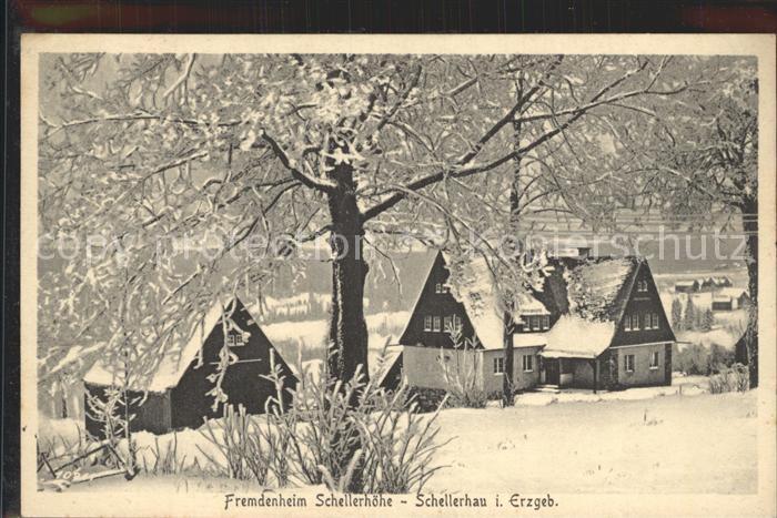 AK / Ansichtskarte Schellerhau Fremdenheim Schellerhoehe im Winter Kat. Altenberg