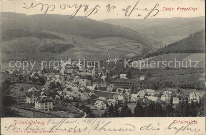 AK / Ansichtskarte Schmiedeberg  Dippoldiswalde Totalansicht Erzgebirge