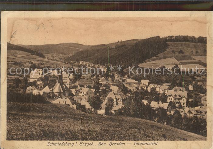 AK / Ansichtskarte Schmiedeberg  Dippoldiswalde Totalansicht