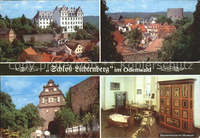 AK / Ansichtskarte Fischbachtal Odenwald Schloss Lichtenberg Ruine Bauernstube im Museum Kat. Fischbachtal