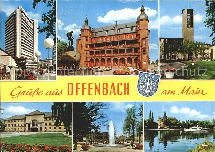 Ak ansichtskarte offenbach main hochhaus isenburger for Werbeagentur offenbach am main