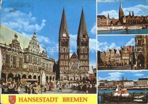 AK / Ansichtskarte Bremen Rathaus Dom Altstadt Hafen Hansestadt Kat. Bremen