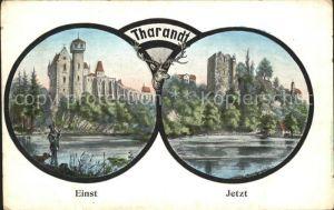AK / Ansichtskarte Tharandt einst und jetzt Burg Ruine Schlossteich Kat. Tharandt