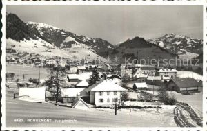 AK / Ansichtskarte Rougemont Pays d Enhaut Vue generale en hiver Alpes Kat. Rougemont