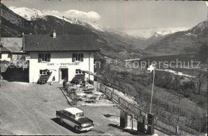 AK / Ansichtskarte Mollens Sierre Cafe Restaurant de la Mi Cote vue sur le haut Valais Kat. Mollens