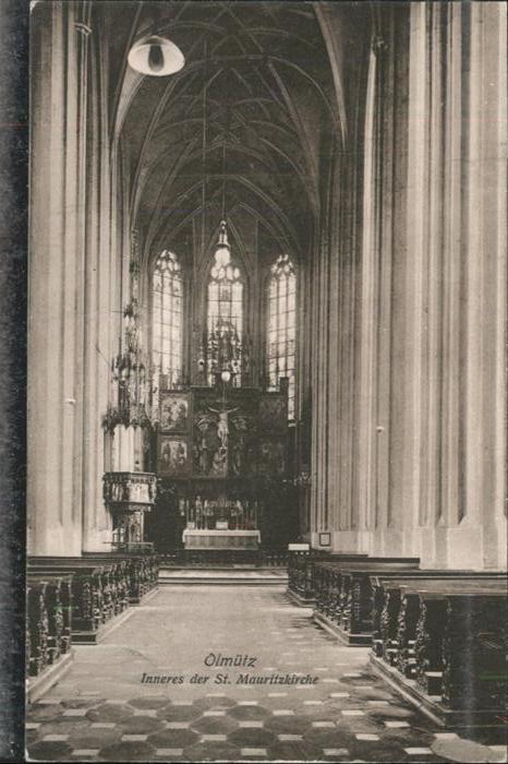 AK / Ansichtskarte Olmuetz Olomouc Inneres St Mauritz Kirche  / Olomouc /