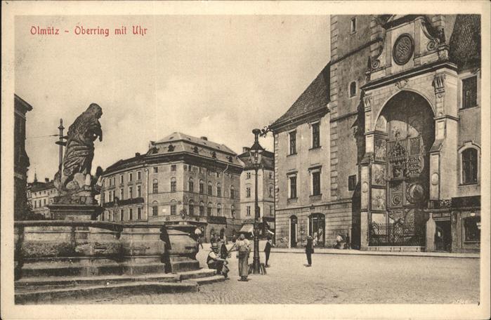 AK / Ansichtskarte Olmuetz Olomouc Oberring Uhr / Olomouc /