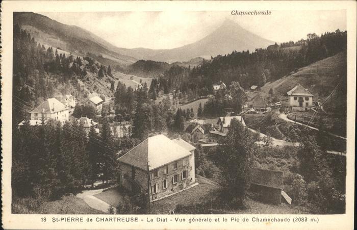 AK / Ansichtskarte Saint-Pierre-de-Chartreuse La Diat Pic de Chaumechaudin Kat. Saint-Pierre-de-Chartreuse