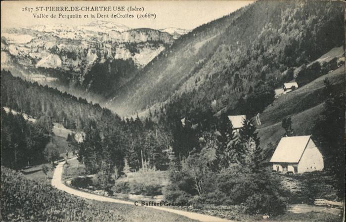 AK / Ansichtskarte Saint-Pierre-de-Chartreuse Dent de Crolles Kat. Saint-Pierre-de-Chartreuse