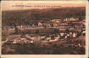 AK / Ansichtskarte La Courtine La Gare et le Camp de Cavalerie Kat. La Courtine
