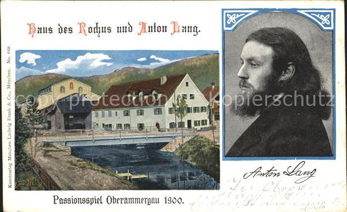 AK / Ansichtskarte Passionsspiele Oberammergau Haus des Rochus und Anton Lang Kat. Events