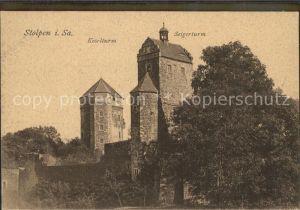 AK / Ansichtskarte Stolpen Schloss Stolpen mit Kosel und Seigerturm Kat. Stolpen