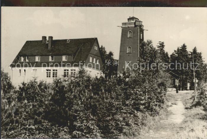 AK / Ansichtskarte Stuetzengruen Kuhberg HO Unterkunftshaus Turm Handabzug Kat. Stuetzengruen